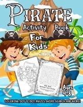 Pirate Activity Book for Kids Ages 4-8