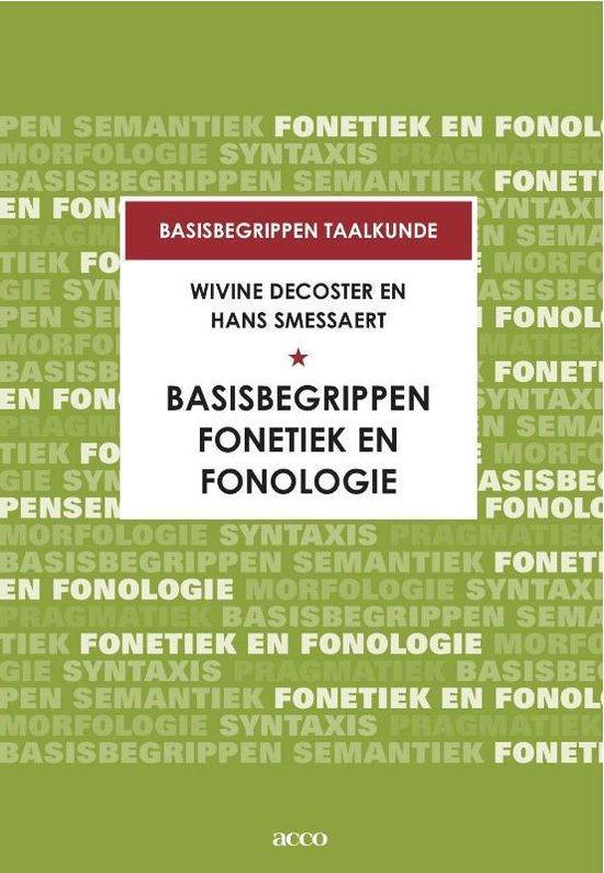 Basisbegrippen fonetiek en fonologie - Hans Smessaert |