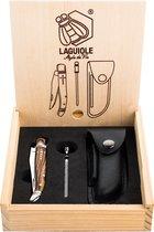 Laguiole Style de Vie Zakmes - Met aanzetstaal en etui - Zebranohout