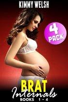 Brat Internals Breeding Bundle : Books 1 - 4 (Virgin Erotica Breeding Erotica Pregnancy Erotica Age Gap Erotica XXX Erotica Collection)