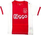 Ajax baby t-shirt - wit/rood - maat 62/68