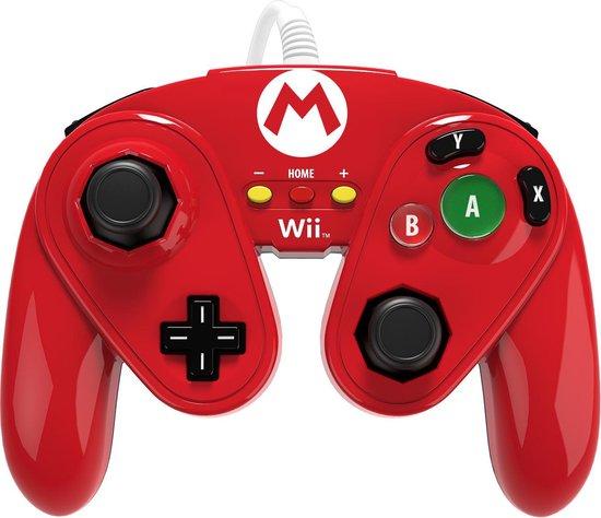 Nintendo Super Smash Bros - Gaming Controller - Mario Rood - Nintendo Wii U + Nintendo Wii