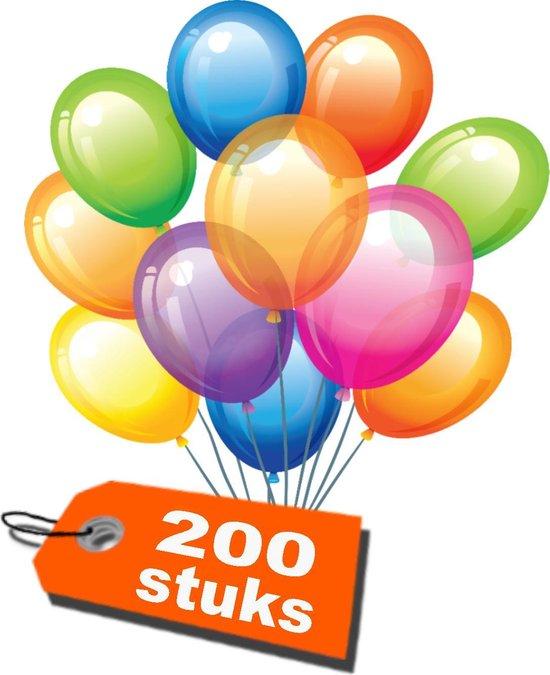 200 stuks - Ballonnen - assorti kleur - 28cm - ballon - feestje - decoratie
