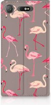 Sony Xperia XZ1 Standcase Hoesje Flamingo