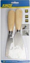 Afbeelding van 2x Plamuur messen 3 en 7,4 cm - Klus/schilder/behang/stuc benodigdheden/gereedschap - plamuurmessen 2 stuks.