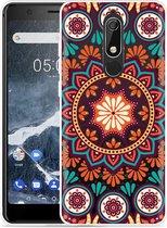Nokia 5.1 Hoesje Retro Mandala