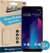 Just in Case Screen Protector HTC U12 Plus - Crystal Clear - 3 stuks