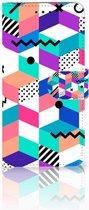 Nokia 7.1 Bookcase Hoesje Blocks Colorful