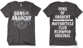 Sons Of Anarchy grijs shirt heren XL