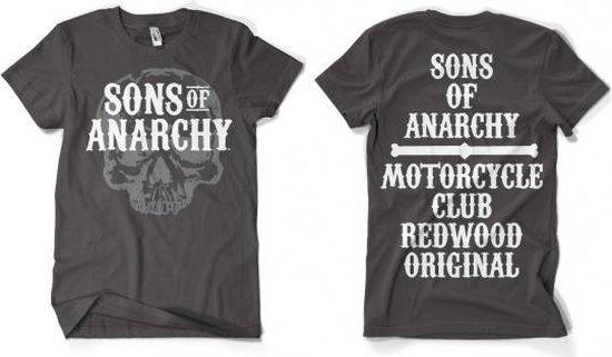 Sons Of Anarchy grijs shirt heren XL