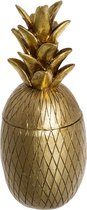 Deco Opbergpot Ananas - Goud - H24