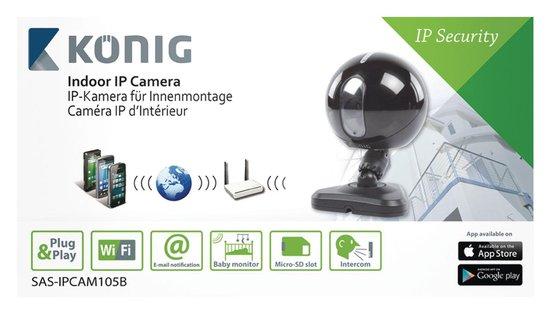 König SAS-IPCAM105B Indoor Ip-camera Zwart