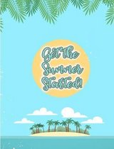Get the Summer Started. Tropical Island Composition Book