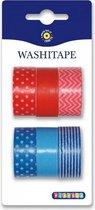 Washi Tape Rood Blauw Kleuren | Decoratie Tape