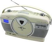 Soundmaster RCD1350BE Radio-CD Retro Draagbaar - Beige