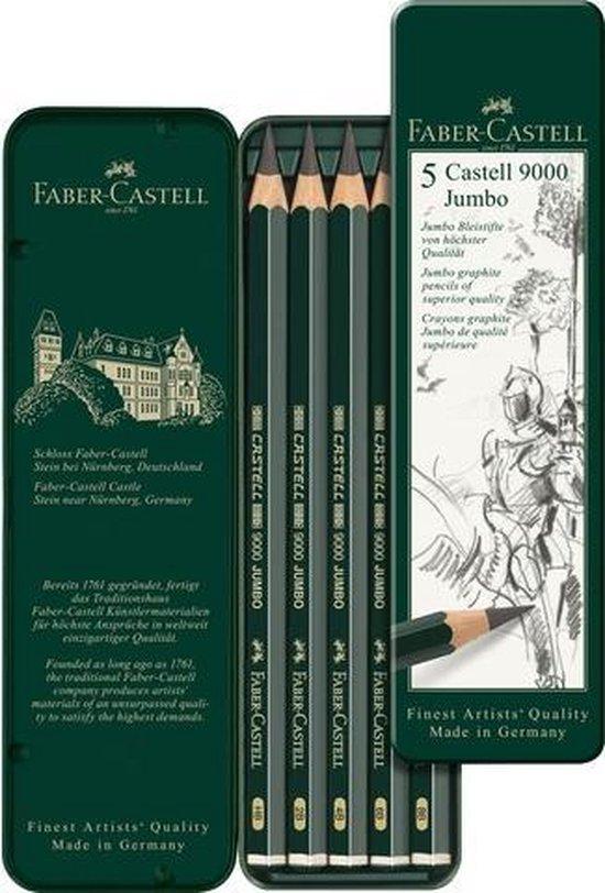 potlood Faber Castell 9000 Jumbo etui met 5 stuks FC-119305