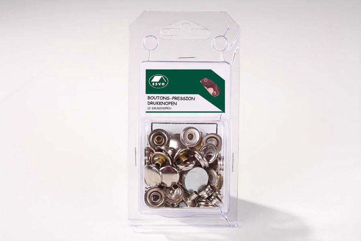 Set ESVO drukknopen 15 mm. 12 stuks. - ESVO