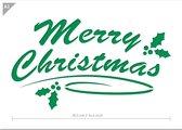 QBIX Merry Christmas Sjabloon A3 Formaat Kunststof - Uitsnede 37cm breed