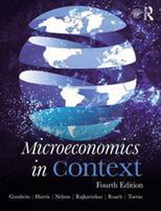 Boek cover Microeconomics in Context van Neva Goodwin (Onbekend)
