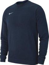 Nike Team Club 19 Crew  Sporttrui - Maat S  - Mannen - navy/wit