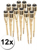 Bamboe tuinfakkels set 12 stuks 61 cm