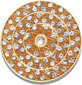 LOCKits 982501876 - stalen munt - fantasie ster - kristallen - Ø 33-2 mm - rosékleurig