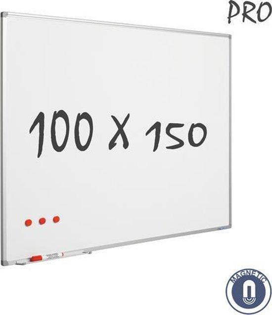 IVOL Whiteboard 100x150cm - Emaille - Magnetisch - met montagemateriaal