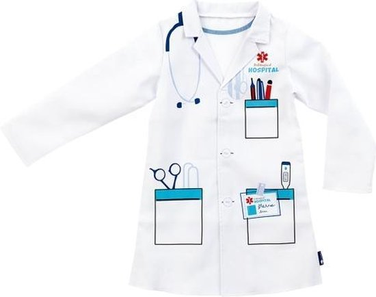 Imaginarium Doktersjas voor Kinderen - Verkleedkleding Dokter - Lange Mouw