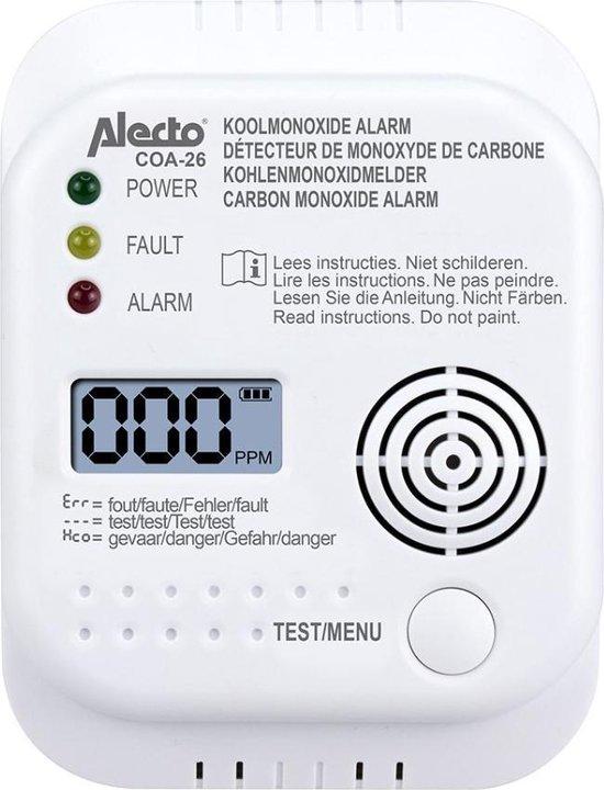 COA-26 Koolmonoxide melder - long life sensor 7 jaar