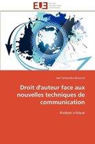 Droit d'Auteur Face Aux Nouvelles Techniques de Communication