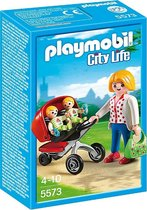 PLAYMOBIL City Life Tweeling kinderwagen - 5573