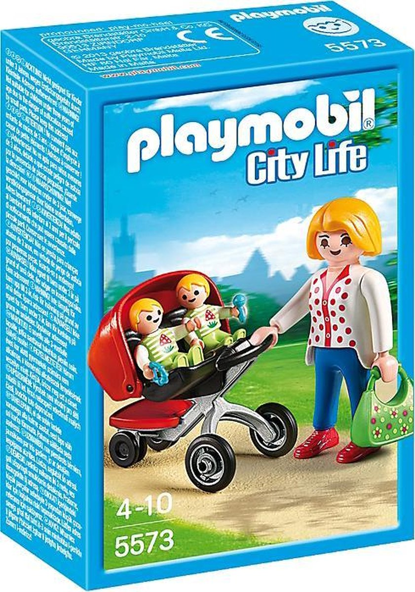 PLAYMOBIL City Life Tweeling kinderwagen - 5573