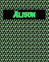 120 Page Handwriting Practice Book with Green Alien Cover Alison