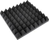 OMNITRONIC akoestisch studioschuim 50x50cm - Pyramide - geluidsisolatie - geluidsdempende mat