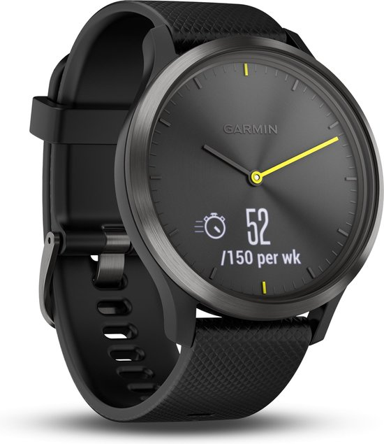 Garmin Vivomove HR - Hybride Smartwatch - 43 mm - Zwart