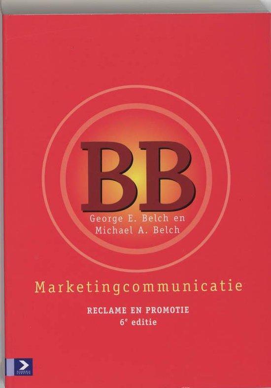 Marketingcommunicatie - En Belch Belch |