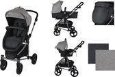 XAdventure Inspire Combi Kinderwagen - Jeans - Grijs - Inclusief autostoel