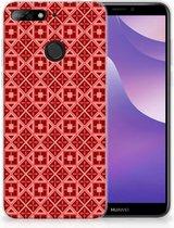 Huawei Y6 (2018) Uniek TPU Hoesje Batik Red