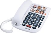 Alcatel TMAX10 Senioren huistelefoon vaste lijn met 6 grote fotogeheugen toetsen voor slechtzienden en slechthorenden - wit