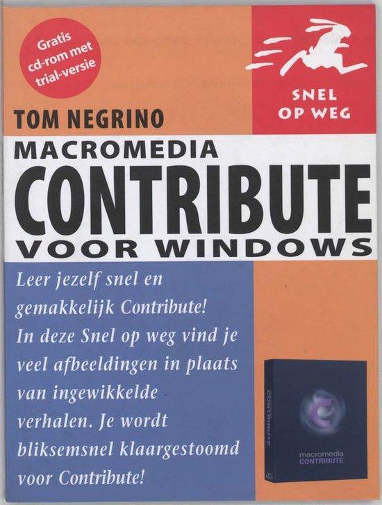 Snel Op Weg Macromedia Contribute Voor W - Negrino Tom | Fthsonline.com