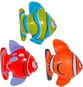 3x Opblaasbare tropische vissen - opblaas dieren - 14 x 22 cm per stuk