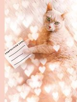 Cute Cat Composition Book, Wide Ruled