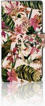 Sony Xperia XA1 Uniek Boekhoesje Flowers