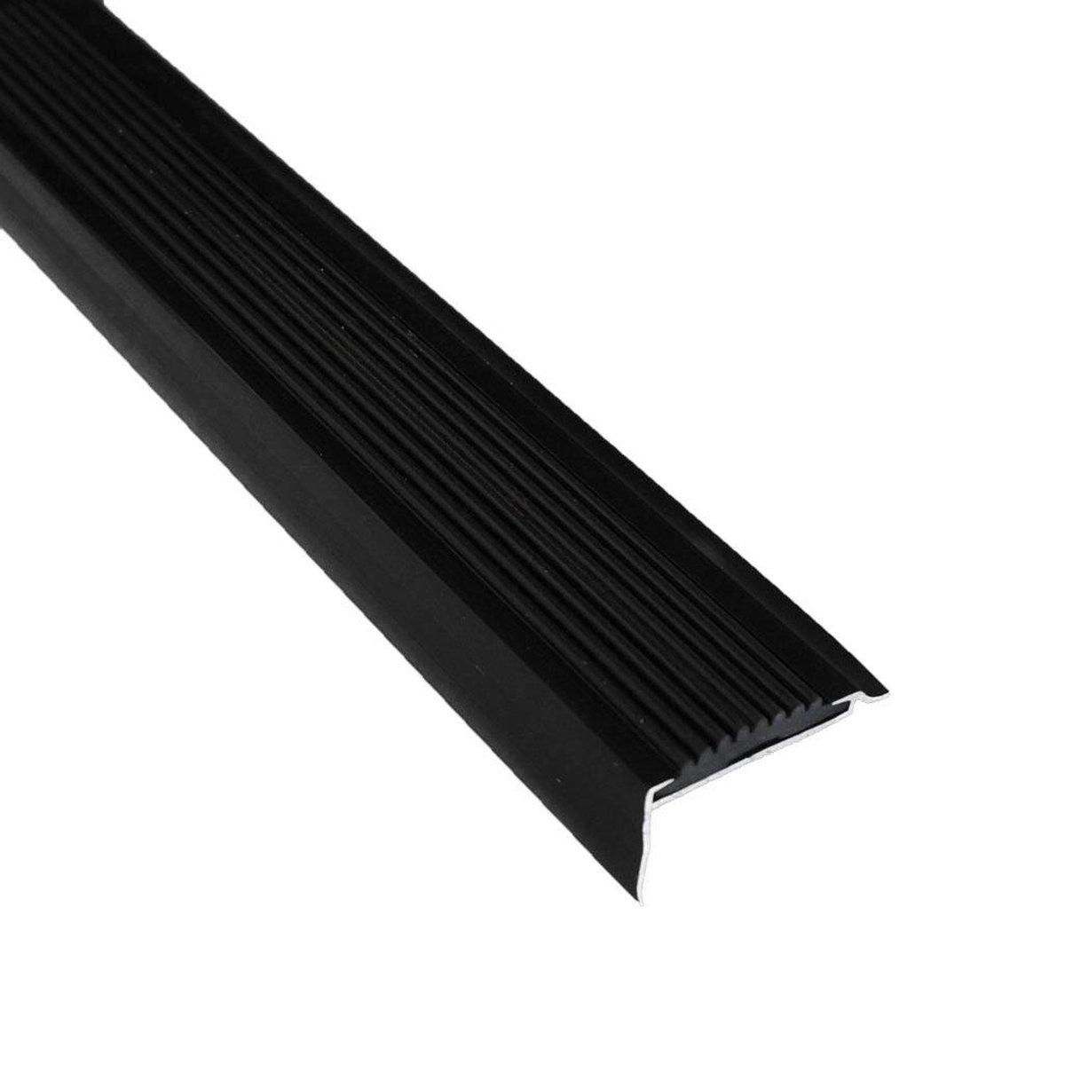 Aluminium trapprofiel zwart 42 x 22 x 1000 mm - 1 stuk