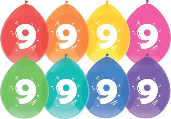 Ballonnen  9 jaar 8 st