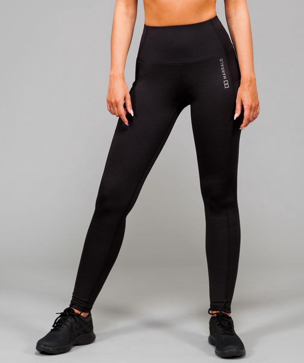 Marrald High Waist Pocket Sportlegging | Zwart L dames yoga fitness