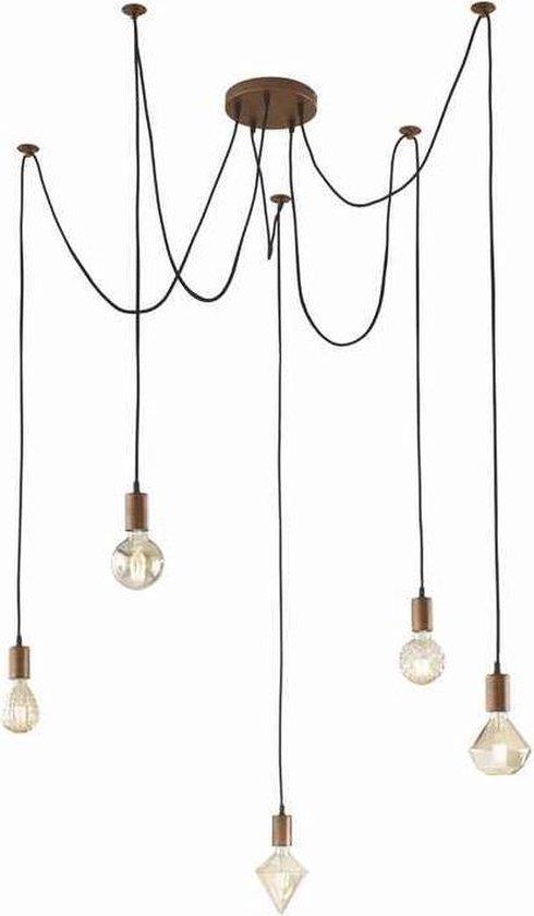 Trio CARICO Hanglamp 4x35W 3000K RVS Wit LED 371510407