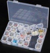 Afbeelding van Diamond Painting opbergdoos, sorteerdoos 7x4, opbergsysteem met 28 vakjes + Memorycard SKalert® speelgoed