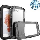 Apple iPhone 6/6s - Waterdicht Hoesje Zwart IP68 Certifering voor het Zwemmen en Skiën tot 10 meter Waterproof - Heavy Armor Beschermend Hoesje tegen Valschade