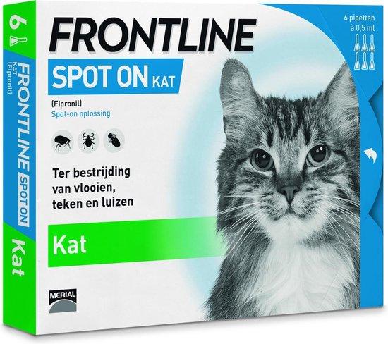 Frontline Spot-On Anti vlooienmiddel Kat - 6 pipetten